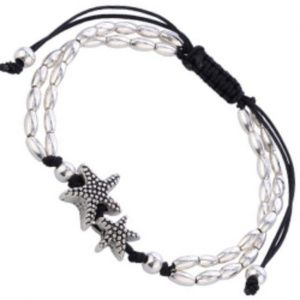 Anklet or Bracelet - Starfish on the Coast Silver